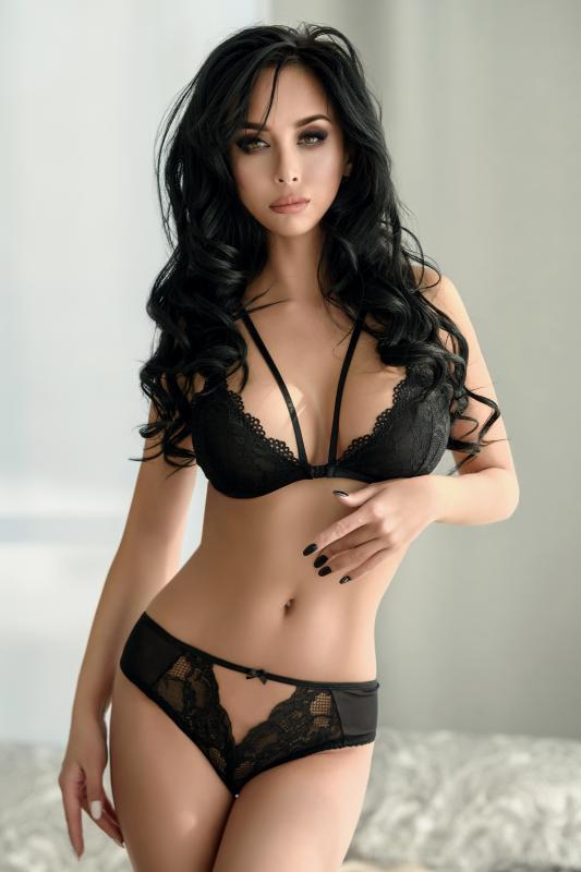 Эротические трусики Norddiva, кружевные, черные, S