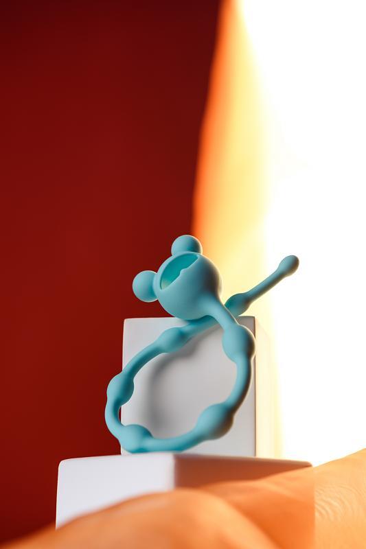 Анальная цепочка ToDo by Toyfa Froggy, силикон, мятная, 27,4 см, ? 1,4 см
